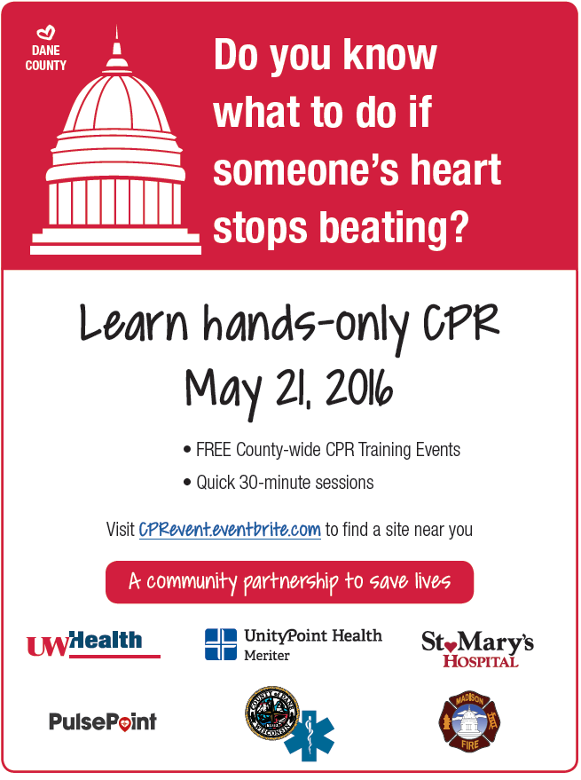 CPR event poster