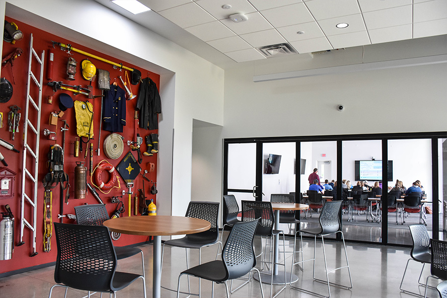 A view of the Station 14 community room.
