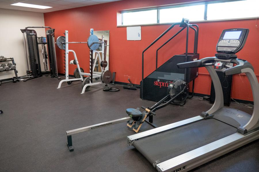 Station 2 Workout Room - Firefighters stay fit by utilizing the equipment in the firehouse workout room.