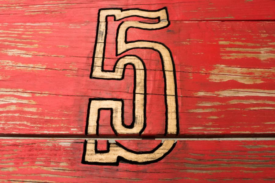 Station 5 Park Bench - Station 5's nickname is 'The Nickel'