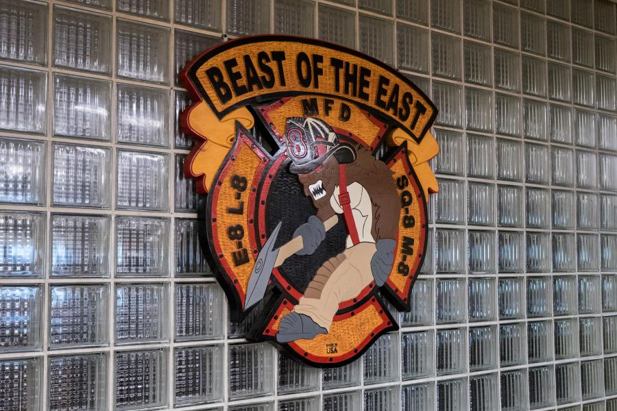 The Beast Of the East - Station 8 touts the motto 'Beast Of the East' and has a mascot to match.