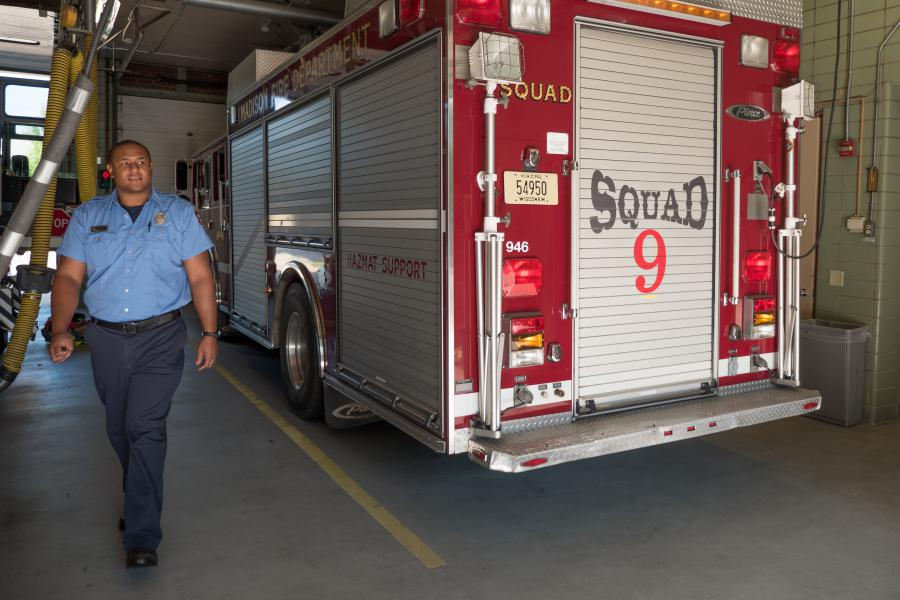 Squad 9 - Squad 9 provides support on active fire scenes, supplying breathing air, lighting, and generated power.