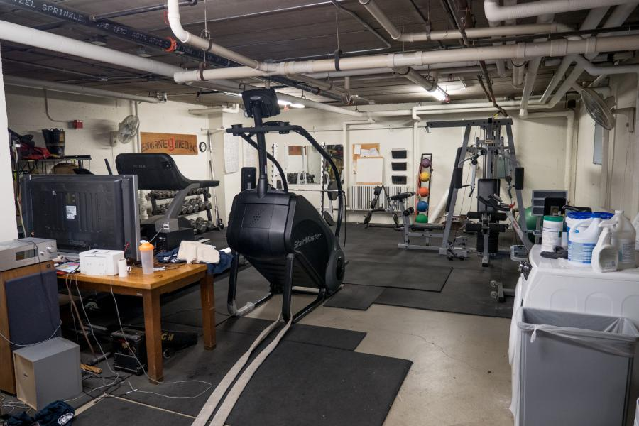 Station 9 Workout Room - Firefighters are allotted time each day to use the workout room. Maintaining peak performance is crucial on the job.