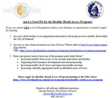 Are You a Good Fit for Healthy Retail Access Program Funding?