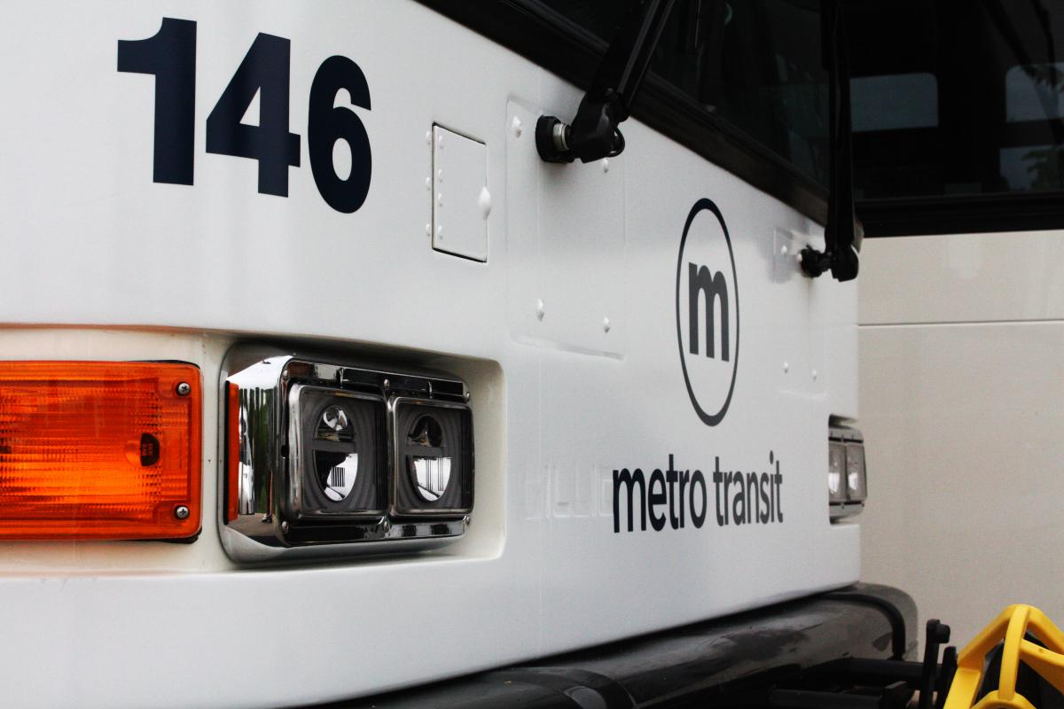 Front of a Metro bus