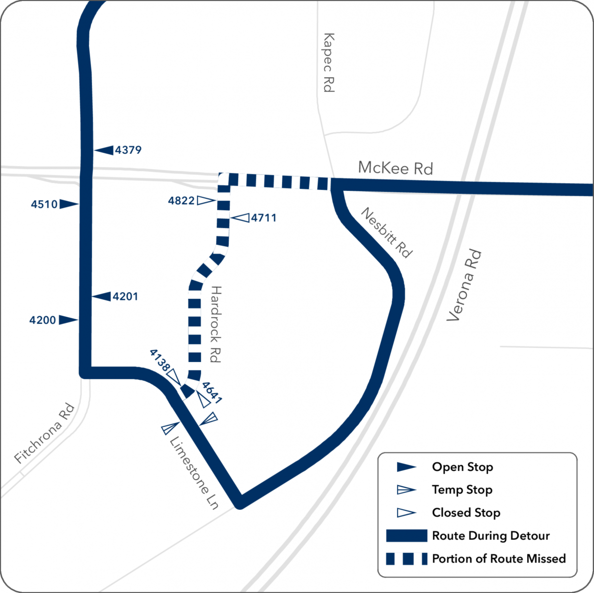 route 59 detour map from hardrock