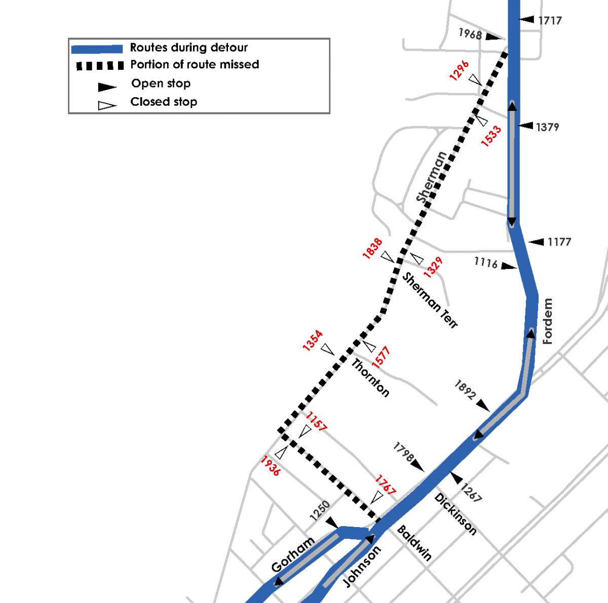 map of route 2 detour