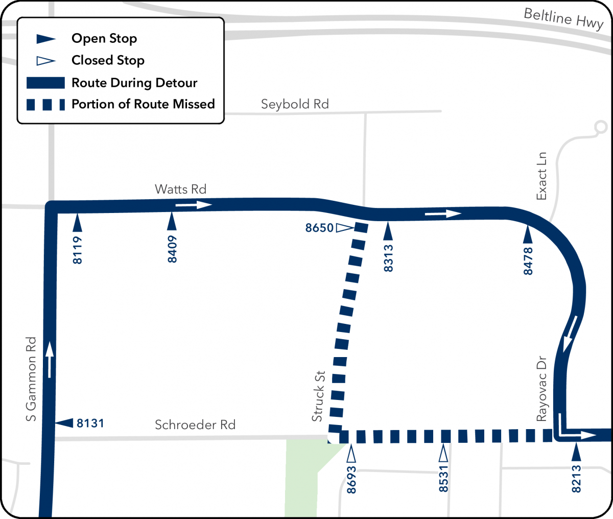 route 50 map from struck and schroeder