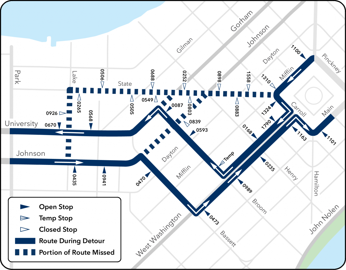 detour map off of state