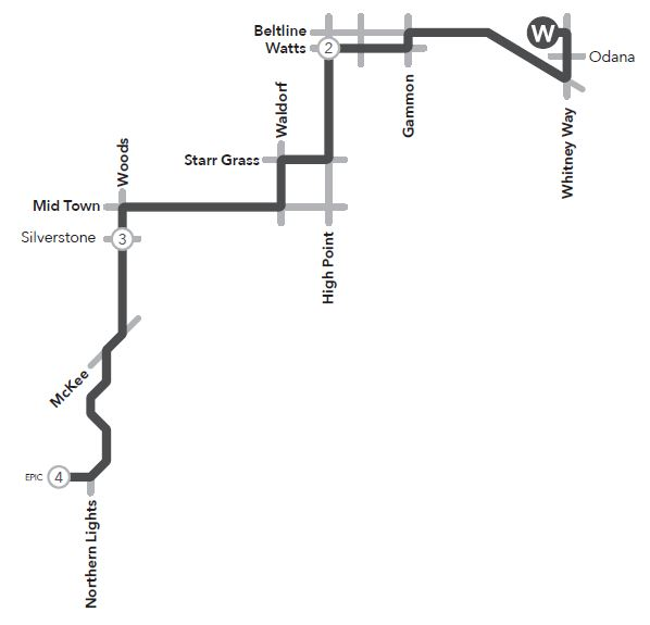 Route 55 service to/from west transfer point and Verona/ Epic