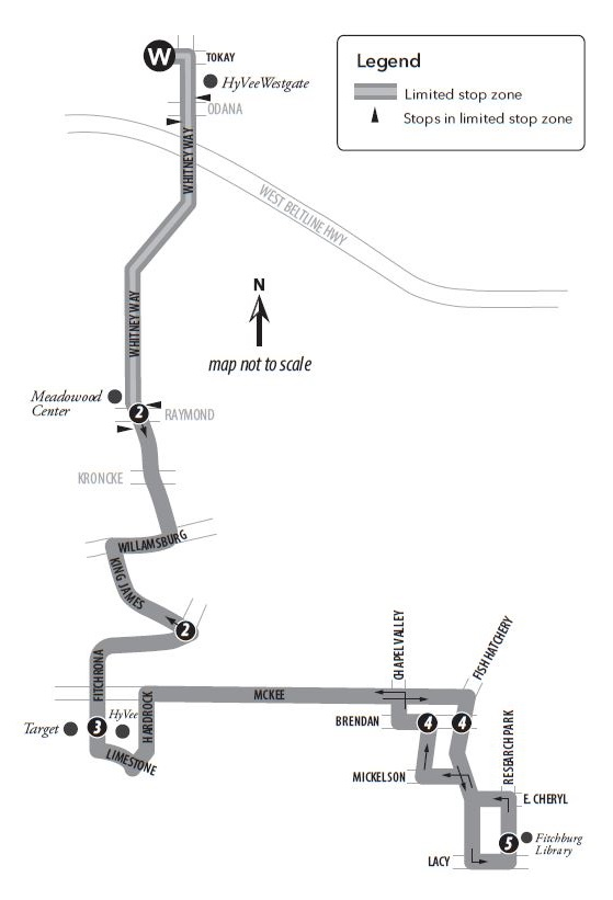Route 59 service to/from west transfer point and Fitchburg