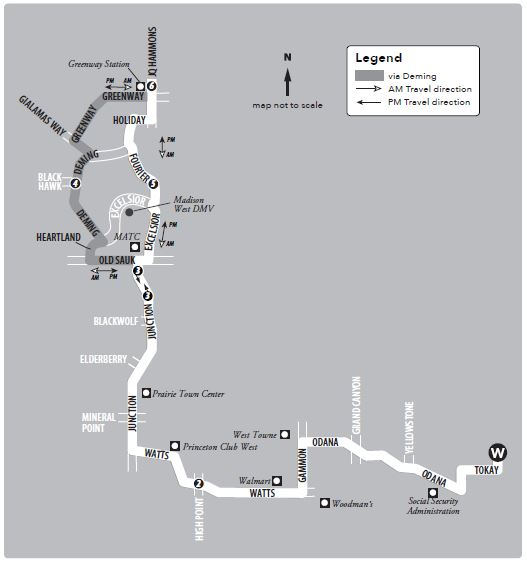 Service between Middleton and the West Transfer Point