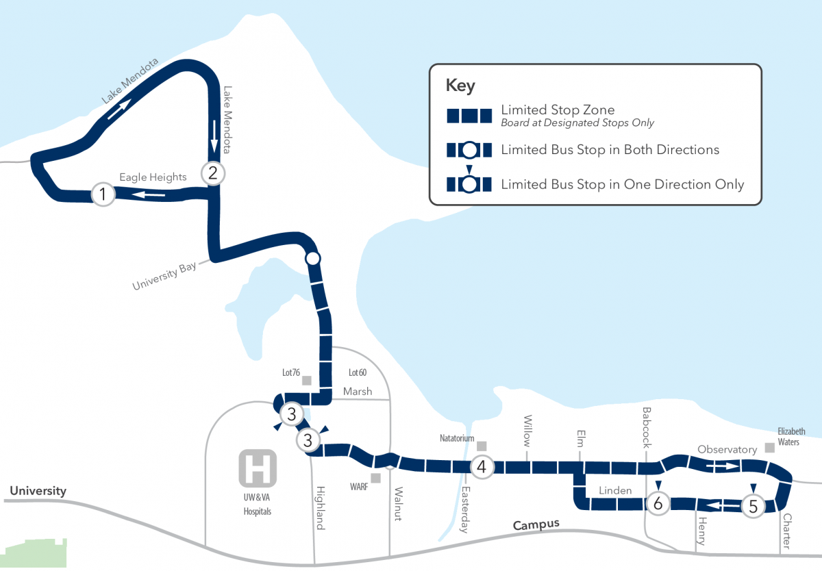 Route 84 map to Eagle Heights