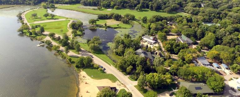 vilas park aerial image