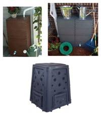 Rain Reserve compost bin and rain barrel sale schedule for May 12. You can pre-order today