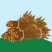 Bundled brush pile