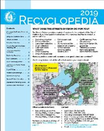2019 Recyclopedias available by contacting the Streets Division or visiting any Madison Public Library branch