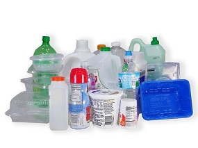 This is a photo of some of the plastic bottles and containers that can be recycled