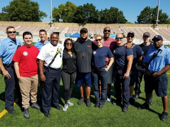 EMTs with Gilbert Brown