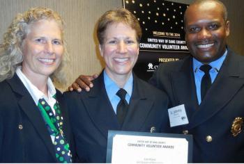 Capt. Roman, Lori Karst, Lt. Winston