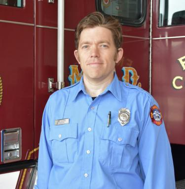 Firefighter Davy Calkins