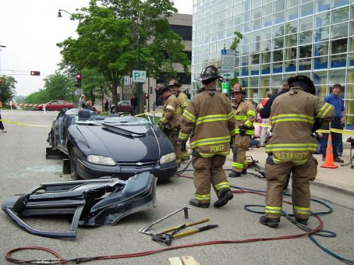 Car taken apart