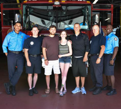 Buhr Family and Station 1 responders
