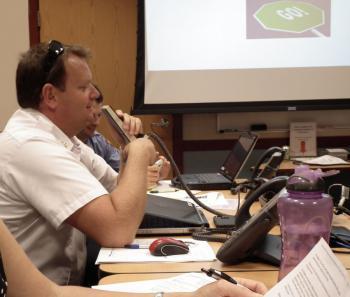 Chief Davis in EOC