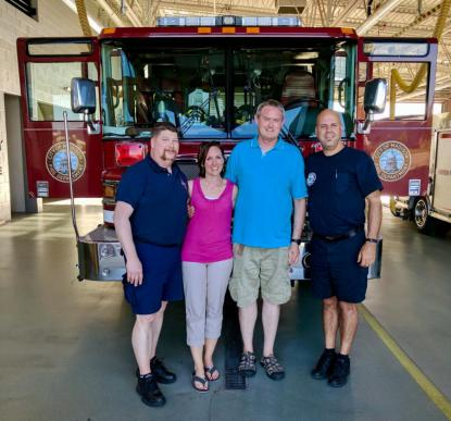 FF James Schmitt, Angie and Chad McKee, AE Todd Sailor