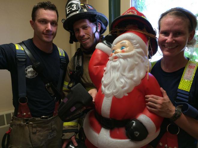 3B Crew and Santa