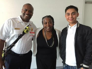 Intern Garcia with Division Chief Winston and Wanda Fullmore