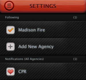 CPR Notifications option