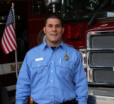 Firefighter Adam Lesser