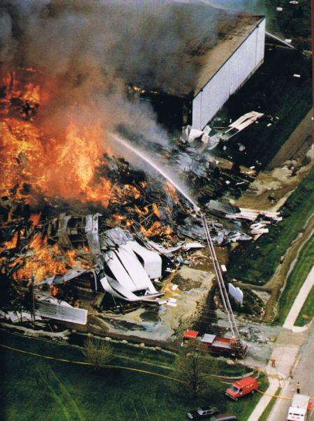 Central Storage fire from above