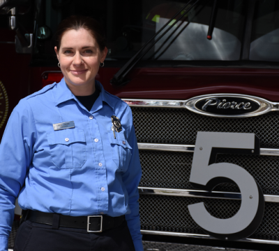 Firefighter Ruth Savard