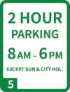 Signage indicating a residential parking area