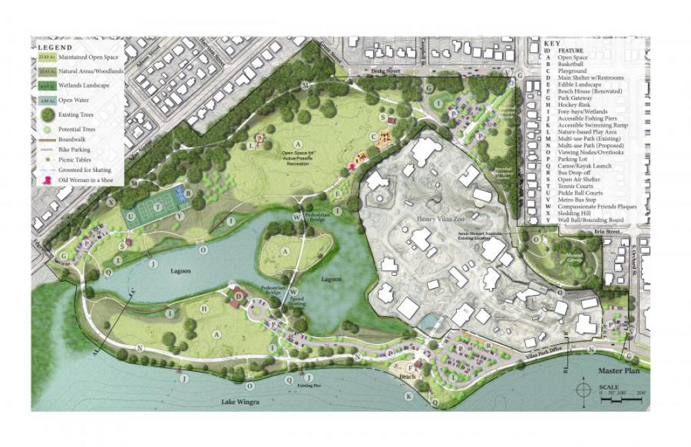 The  master plan for Vilas Park adopted  3-10-2021