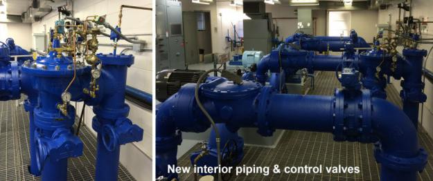 new interior piping and control valves