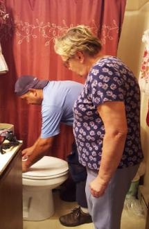 Project Home installs new toilet