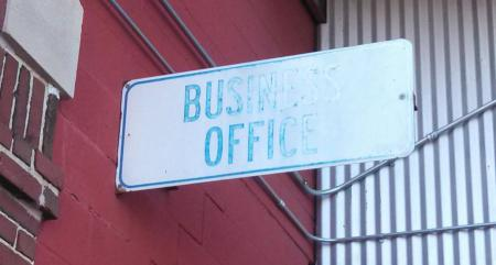 Business office sign