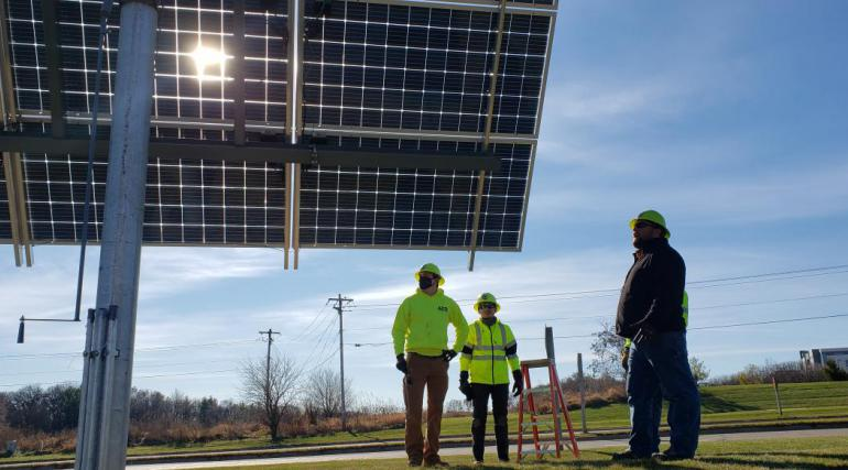 Photo of solar program and GreenPower Trainees at Fire 11