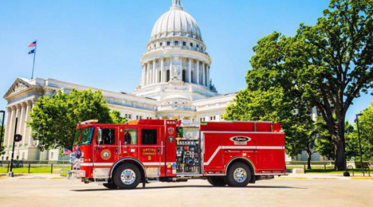 Volterra parked in front of State Capitol