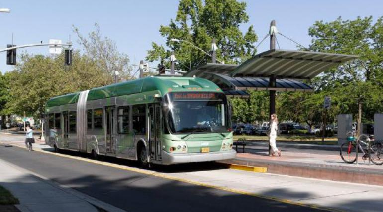 BRT vehicle in Eugene, Oregon