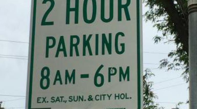 Image of 2 hour Parking Restriction Sign