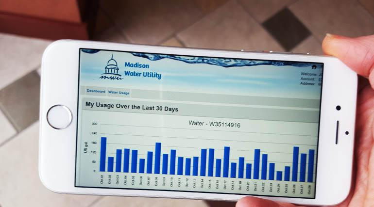 Water use on iphone