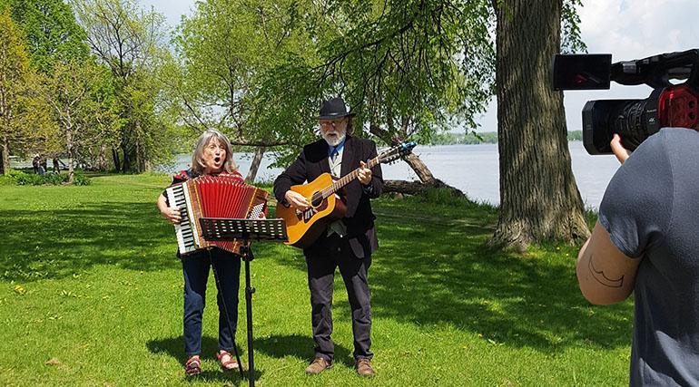 Lou and Peter Berryman singing