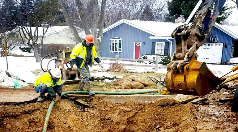 MWU crews fix a main break on Madison's west side