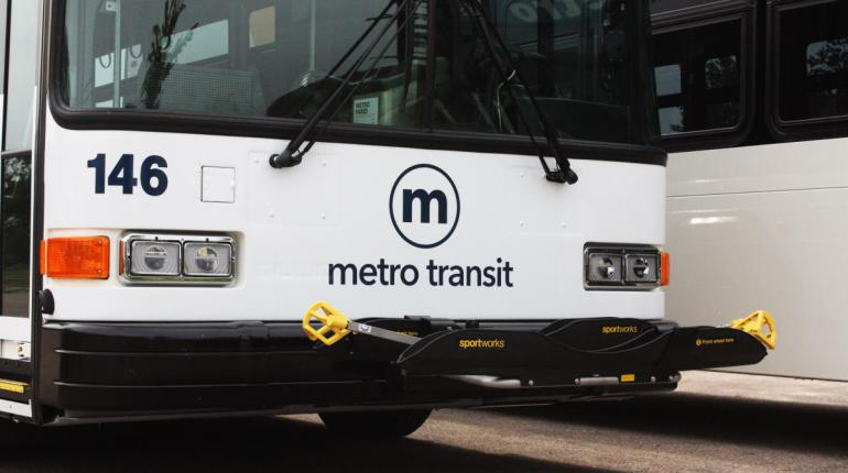 Picture of Metro bus.