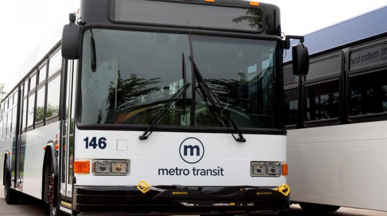 Picture of front of a Metro bus