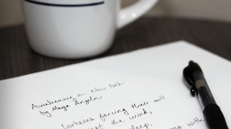 Coffee mug with Poem